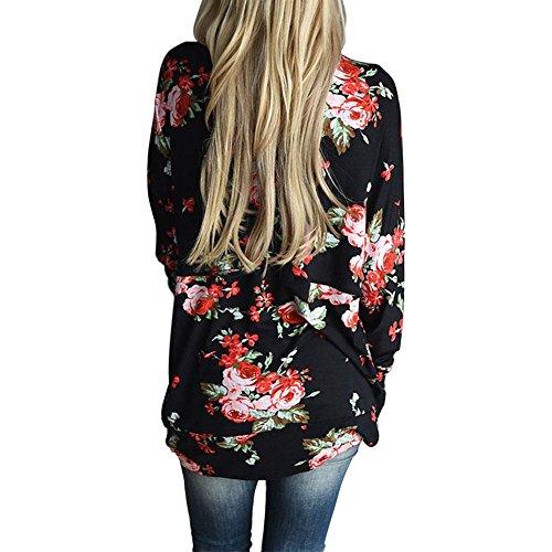 Femmes en de Dcontract de Sweatshirt Soie Blouse Tops Floral wlgreatsp Manteau Mousseline Cardigan Mode Imprim HdBpffTqY