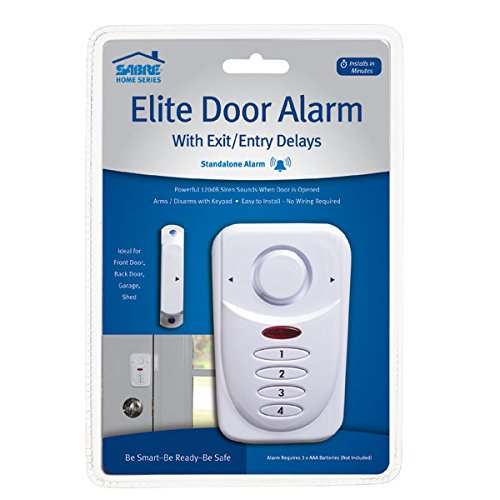 SABRE Wireless Elite Home and Commercial Door Security Alarm with LOUD 120 dB Siren and Exit Entry Delays - DIY EASY to Install by Sabre (Image #3)