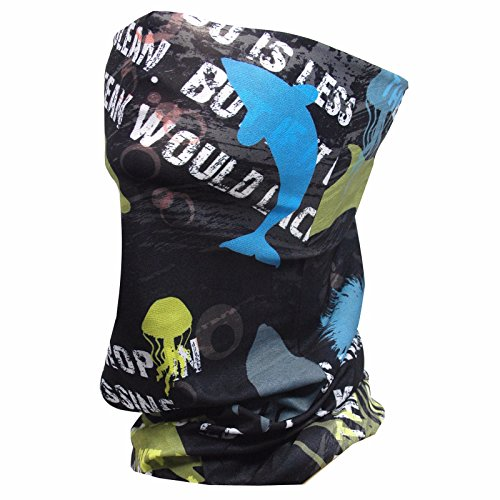 Fishing Sun Mask - Aqua Cooling Face Tube Mask for Hunting Motorcycle Cycling Riding in Summer - UV Sun Protection, Dust, Wind Shield Fast Dry Extreme Soft Touch Feeling Fabric - Wind In Cycling