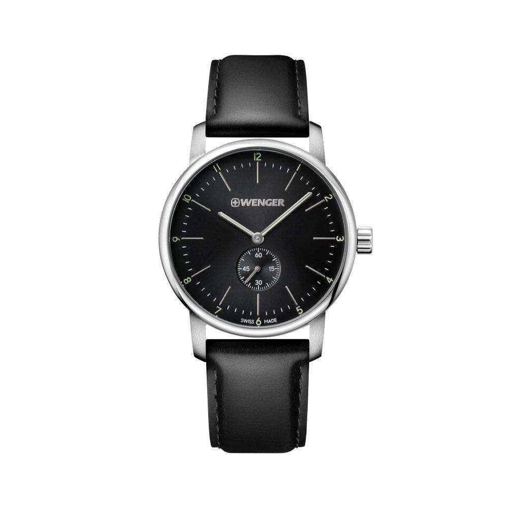 WENGER Reloj Analogico para Unisex de Cuarzo con Correa en Cuero 01.1741.102