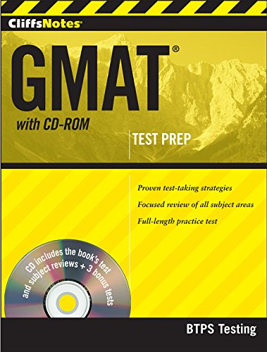 CliffsNotes GMAT with CD-ROM