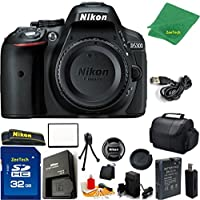 Nikon D5300 DSLR Camera Body Only (Black) + 32 GB Memory Card + Case + Reader + 6PC Starter set + Microfiber Cloth + Extra Charger - International Model