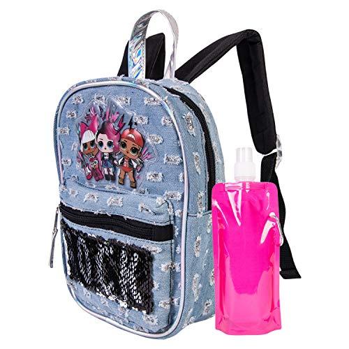 L.O.L. Surprise Backpack Combo Set - Girls' 3 Piece Backpack Set - L.O.L. Surprise Backpack & Lunch Kit (Grey)