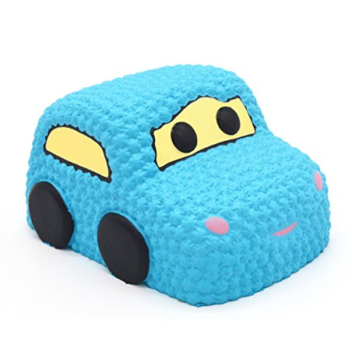 Squishy Muffinz Car Colors : AREEDY Slow Rising Squishy Blue Car Cake Jumbo Big Strawberry Scented Cartoon Squishies Toy ...