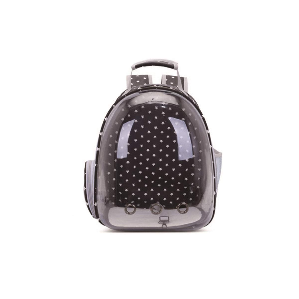 Black dots MHENGTONGTONGXUN Pet Carrier, Pet Transparent Carrier, Portable Cat Carrier, white five stars, white dots, black dots Bite resistant, wear resistant, washable (color   White dots, Size   M)