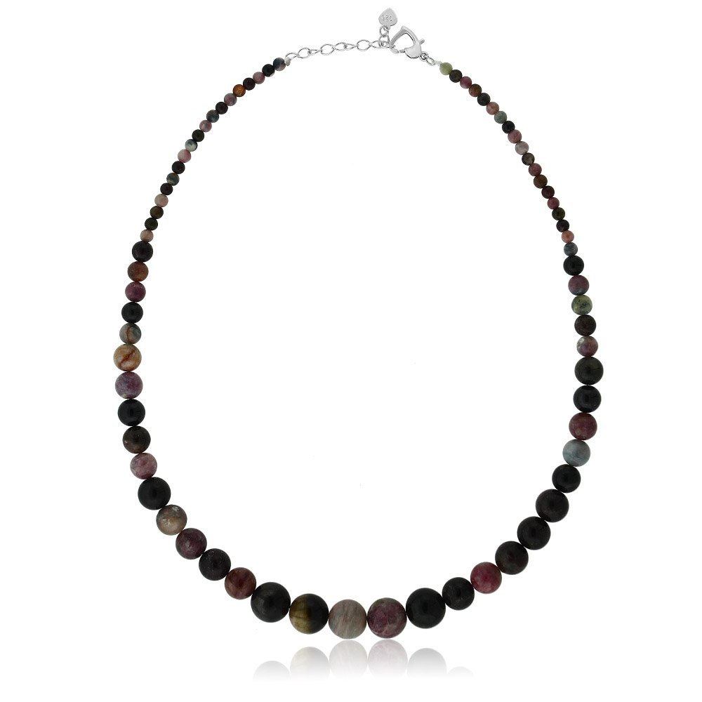 Gem Stone King 18 Inch Classic Tourmaline Women's Jewelry Necklace with Heart Clasp 18 Inch by Gem Stone King
