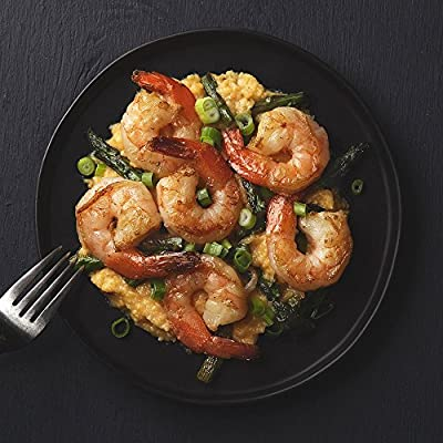 Shrimp and Asparagus with Parmesan Grits by Chef'd Partner Fabio Viviani
