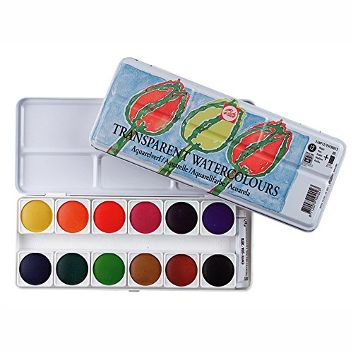 Talens 12 Color Transparent Watercolor Metal Box Set
