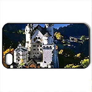 Beautiful Building - Case Cover for iPhone 4 and 4s (Ancient Series, Watercolor style, Black)
