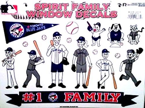 (Rico Industries, Inc. Toronto Blue Jays Family Spirit Decal Sheet Glass Stickers Auto Decals Baseball)