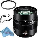Panasonic Leica DG Nocticron 42.5mm f/1.2 ASPH. POWER O.I.S. Lens + 67mm UV Filter + Fibercloth + Lens Capkeeper Bundle