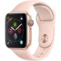 Apple Watch Series 4 40mm de Alumínio Dourado e Pulseira Esportiva Areia Rosa MU682BZ/A