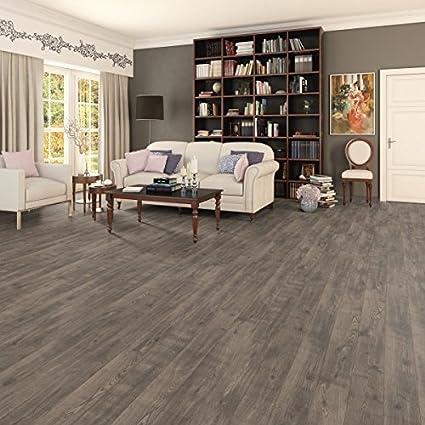 ROVERE MARRONE 3128 pavimento laminato 8 mm. cf. 2,13 Mq.: Amazon.it ...