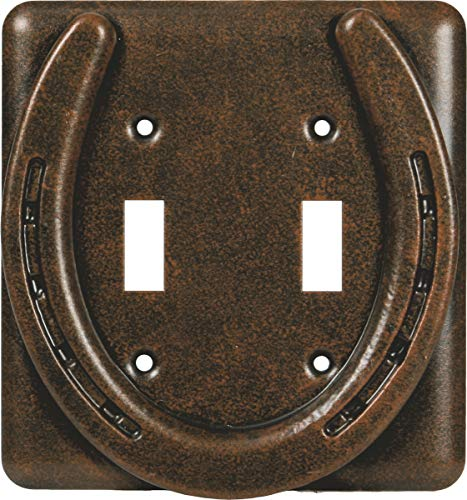 Horse Outlet Cover - River's Edge Products Horseshoe Double Switch Cover