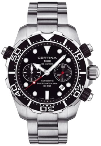 Certina DS Action Diver Chronograph Automatic Black Dial Stainless Steel Mens Watch C013.427.11.051.00