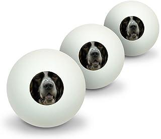 graphique et plus Springel anglais visage Plan Novelty Balles de ping-pong Lot de 3 Graphics and More