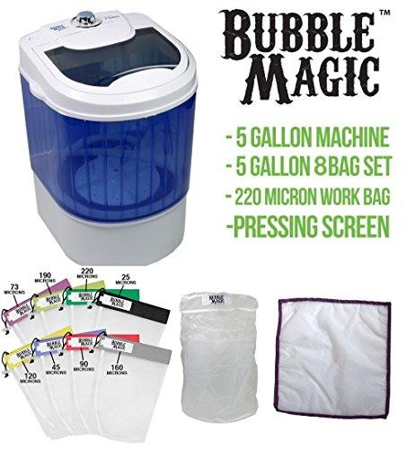 5 Gallon Bubble Magic Washing Machine + All Mesh Extraction 8 Bag Kit