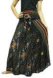 Ballet Skirt Beach Skirt Bohemian Skirt Women Hippie Skirt. (Black)