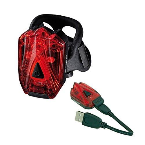 Feu Arrière INFINI LAVA USB 3 Leds Rechargeable Fixation Vélo/VTT/Enduro-3472