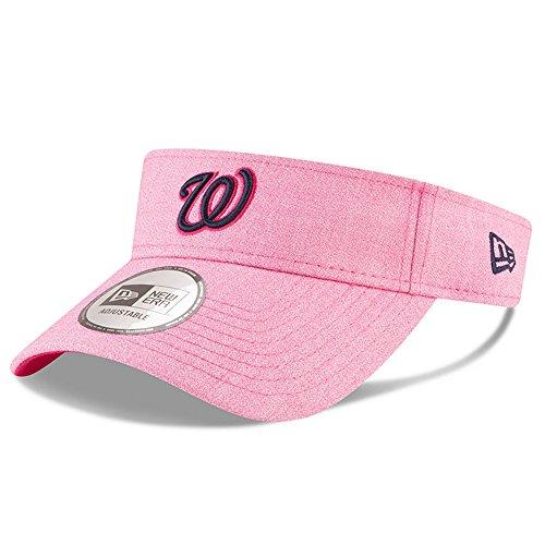 Washington Nationals New Era Mother's Day Visor Adjustable Hat Cap - Pink