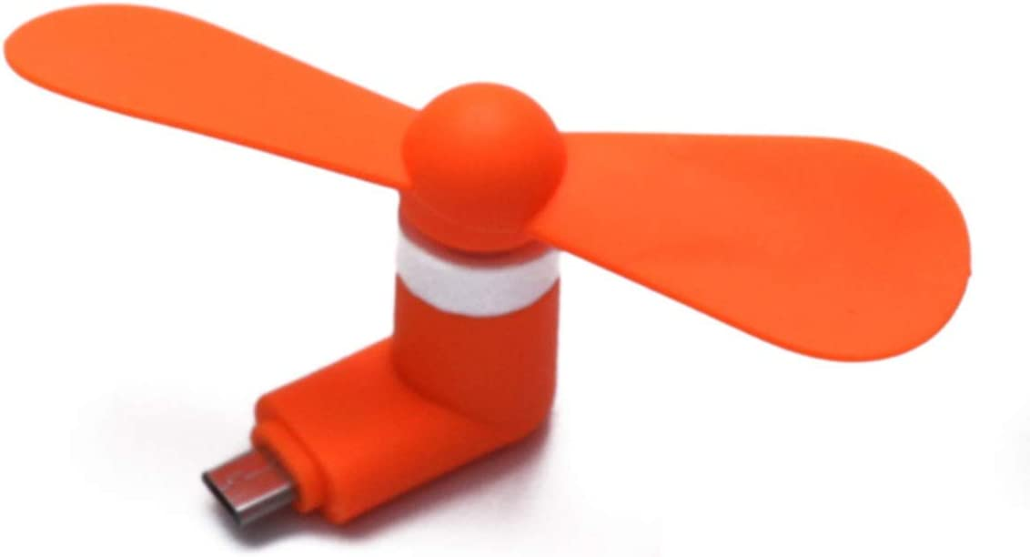 Portable USB Mini Fan Cooling Air Cooler Strong Wind for Phone Laptop Color : Orange