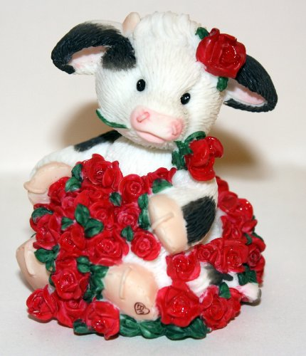 Mary's Moo Moos 1997 Ador-A-Bull Cow with Rose 296708