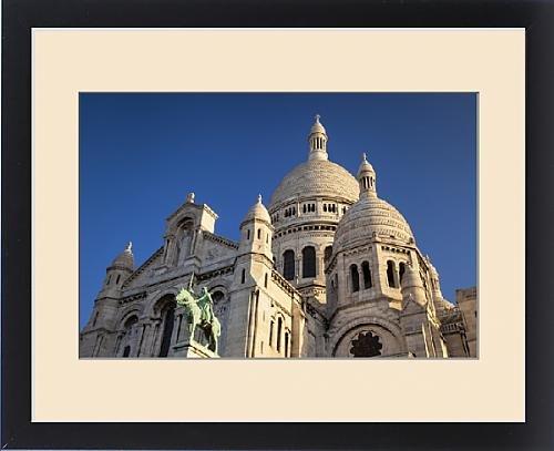 Framed Print of Early morning below Basilique du Sacre Coeur, Montmatre, Paris France by Fine Art Storehouse