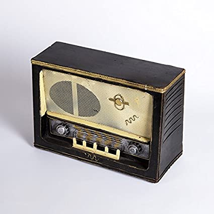 zlj/creativos Patria Ornamente Vintage Retro Antiguo Modelo de radio Ventana Studio Fotografía Requisiten