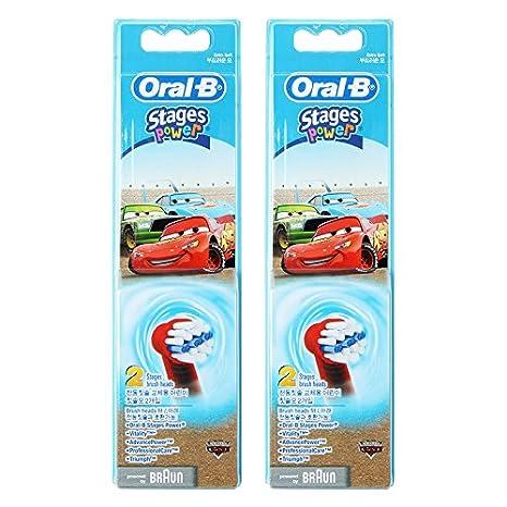 Braun Oral-B EB20 - Cabezal de recambio para 4 Disney Kids - Cepillo de dientes para niños de coche Pack 4: Amazon.es: Salud y cuidado personal