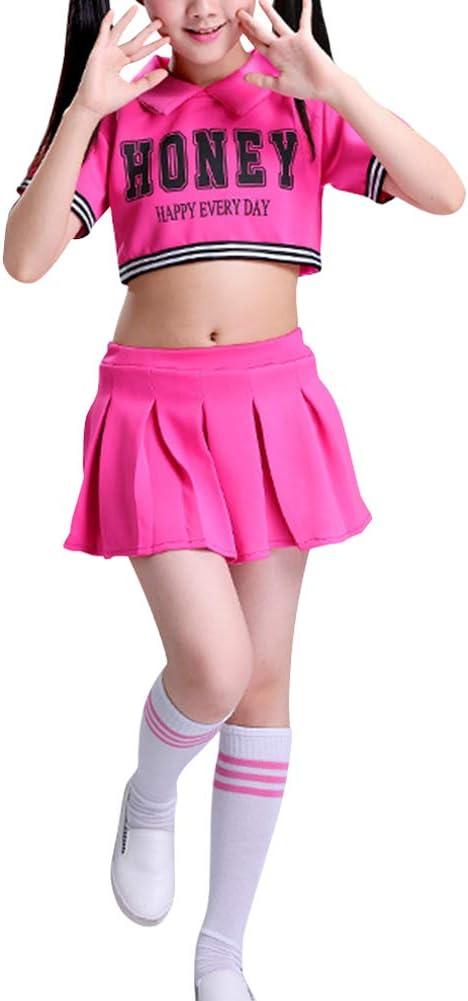 Daytwork Niñas Calcetines Disfraz Animadora Pompones - Vestido de ...