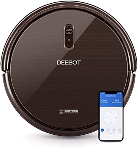 Ecovacs DEEBOT N79S Robotic Vacuum Cleaner with Max Power Suction,  Upto 110 Min Runtime, Hard Floors and Carpets, Works with Alexa, App Controls, Self-Charging, Quiet best robot vacuums