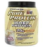 Pure Protein 100 % Whey Protein, Vanilla Cream, 2 Pound Tub
