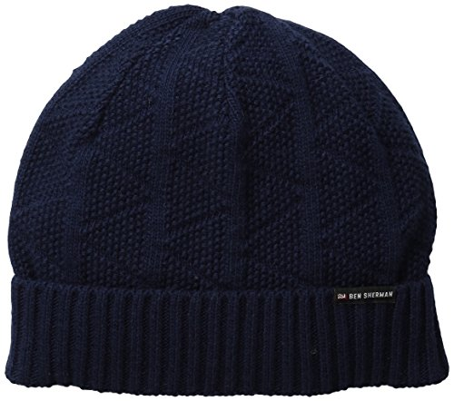 ben-sherman-mens-text-beanie-w-rib-knit-staples-navy-one-size