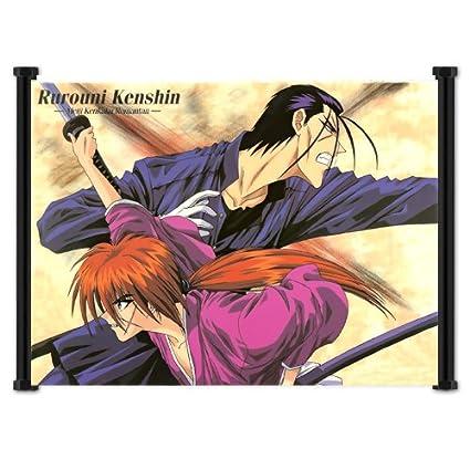 amazon com rurouni kenshin anime fabric wall scroll poster 23 x16