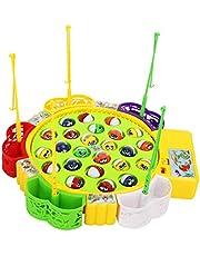 Fenteer Barnspel elektriskt fiskespel musikalisk fisk fiske rollspel leksak