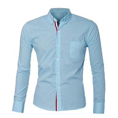 Btruely Herren Camisa Informal con Estilo de Lujo para Hombre Blusa de Manga Larga de algodón Top Ajustadas Blusa Slim Casual/Formal para Hombre: Amazon.es: ...