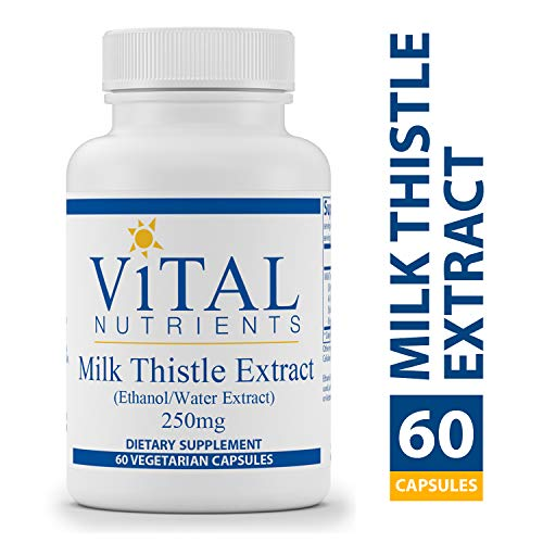 Vital Nutrients - Milk Thistle Extract (Ethanol/Water Extract) 250 mg - Supports Healthy Liver Function and Acts as an Antioxidant - 60 Capsules