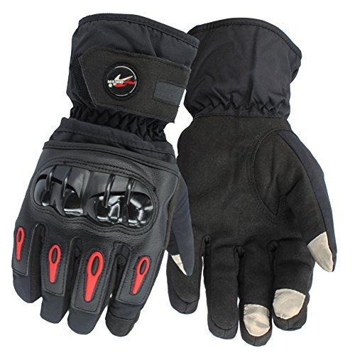 Tactical Riding Gloves Full Finger Gloves For Motorcycle Biker Powersports Outdoor Racing - Hard Plastic Knuckle,Thick Waterproof (size XL)