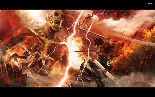 Attack on Titan Thunder Playmat by HiddenSupplies.com