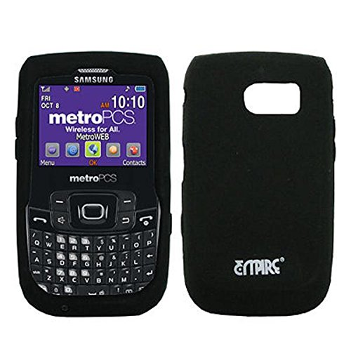 EMPIRE Schwarz Silicone Skin Cover Case Tasche Hülle for MetroPCS Samsung Freeform 2 R360