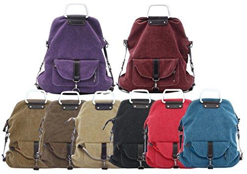 ERGEOB Markenhandtaschen Großhandel Frauen Multifunktions Schulter Tasche Rucksackhandtaschen Blau 03 Blau ZagbQ1WB4