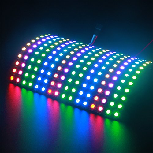 ALITOVE WS2812B Individually Addressable RGB LED Flexible Panel Matrix Screen 16x16 256 pixels Dream Color Digital LED Video Board DC5V
