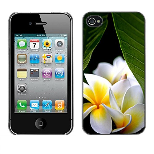 Premio Sottile Slim Cassa Custodia Case Cover Shell // F00002032 une fleur // Apple iPhone 4 4S 4G