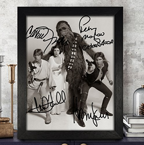 [Star Wars Signed Autographed Photo 8X10 Reprint Rp Pp - Harrison Ford,Carrie Fisher,Mark Hamill,Peter Mayhew] (Star Wars Items)