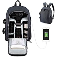 Beaspire Professional Camera Backpack with USB Charging Port for DSLR SLR Lens Cameras Tirpod and Accessories Travel Bag(Grey)