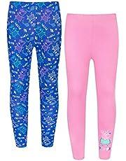 Peppa Pig Girls Blue & Pink Leggings 2 Pack 1 to 6 Years
