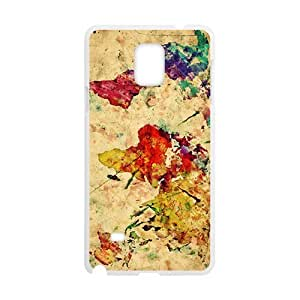 Watercolor world map Cell Phone Case for Samsung Galaxy Note4