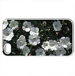 An Array Of White Flowers - Case Cover for iPhone 4 and 4s (Flowers Series, Watercolor style, White)