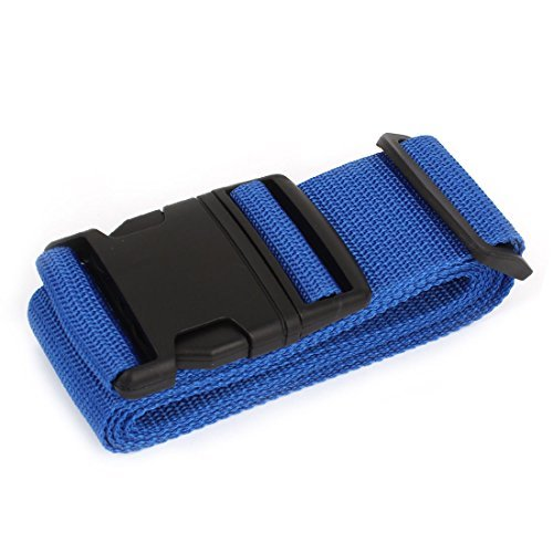 EbuyChX Plastic Release mabaluktot Adjustable Nylon Luggage Strap Belt Band Blue