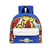 Toddler Nursery Mini School Bag, Vertily Travel Cartoon Animal Printed Backpack (Blue)